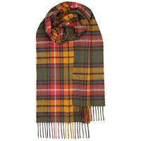 100% Lambswool tartan Scarf by Lochcarron | Buchanan Antique | Made in Scotland