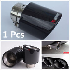 100% Real Carbon Fiber Glossy Car Exhaust Muffler Pipe 63-114mm Stainless Steel
