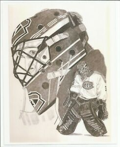 Patrick Roy 8x10 Laminated Sketch Copy Montreal Canadiens Mint