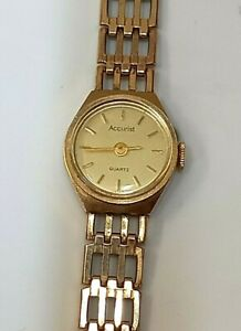 Vintage Accurist  9ct Gold Ladies Watch