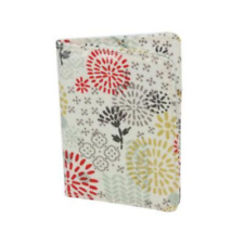 Gisela Graham Retro Multi Coloured PVC Floral Bloom Print Passport Cover 9x14cm