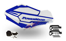 PowerMadd SENTINEL Handguard Hand Guards Mirror KIT White Blue Polaris ATV 34431