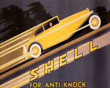 SHELL GAS OIL CAR AUTOMOBILE FOR ANTI KNOCK 8X10 VINTAGE POSTER REPRO FREE S/H