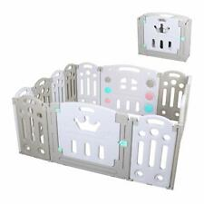 14 Panel Foldable Baby Playpen Kid Safety Fence Play Center Play Yard Play Pen