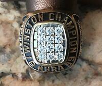EXTREMELY RARE NHRA JOHN FORCE 1999 14K GOLD NHRA WINSTON CHAMPIONSHIP CREW RING