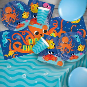 Ocean Celebration Sea Water Jelly Fish  Party Tableware, Decorations & Balloons