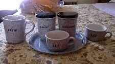 set sale zucchero caffè + vassoio 8 pezzi