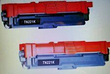 2Pk - TN221 BLACK Toner For Brother MFC-9130CW, MFC-9330CDW, MFC-9340CDW