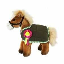 HORSE WITH JACKET - SOFT CUDDLY FLUFFY REALISTIC PLUSH TEDDY TOY LIVING NATURE
