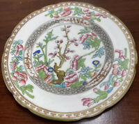 Vintage Pin Dish Indian Tree Coalport Bone China Made England Ruffle Rim Plate