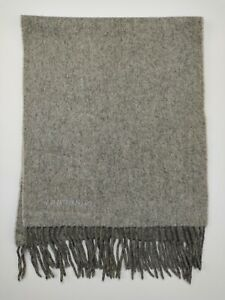 Burberry genuine Vintage 100% Cashmere Plain Grey winter Scarves Scarf