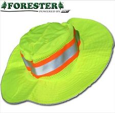 Safety Green Jungle Hat Hi-Vis Waterproof Reflective