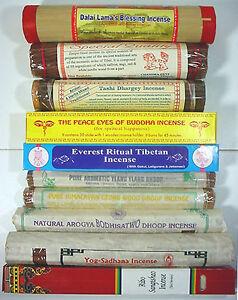 all natural incense ==> SPIRITUAL TIBETAN <== 10 blends