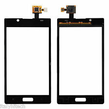 VETRO VETRINO ANTERIORE FRONTALE TOUCH SCREEN DISPLAY LG OPTIMUS L7 P700 NERO