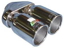 """TWIN 3"""" Exhaust Tip Stainless Steel, Single Skin, 2.25"""" Inlet NEW (A22-004)"""