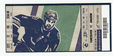 VANCOUVER CANUCKS VS ANAHEIM DUCKS FULL TICKET STUB 12/16/09 WILLIE MITCHELL