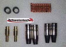 MAG Stromdüsen Gasdüsen Stromdüsenträger Ersatzteile MB 15 - 1,0 mm Komplettset