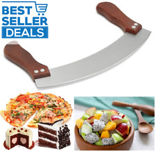 Pizza Cutter Stainless Steel Knife Cutting Chopping Tool Rocker Style Blade