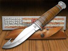 CASE XX Mushroom Cap Brown Leather Gut Hook Hunter Stainless Knives Knife
