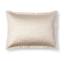Fieldcrest Dalton Collection Linen Trim Quilted Sateen Cream Pillow Sham One
