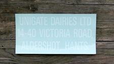 (milk bottle) old UNIGATE DAIRY sticker : Aldershot, Hants.