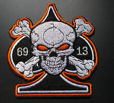 """biker parche Parche - """"69 skull 13"""" - skull-patch"""