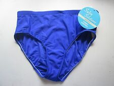 Macy's Swim Solutions Womens Tummy Control Swim Bottoms - Blue - Sz 20 - NWT