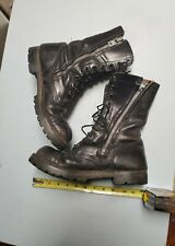 Vintage corcoran leather boots mens size 8  Lace Up,, w zipper rare