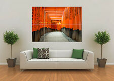 TORI GATES JAPAN BAMBOO STICKS LANDSCAPE GIANT WALL ART POSTER PRINT