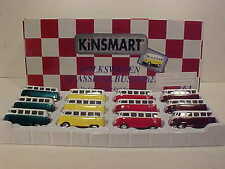 12 Pack of 1962 VW Bus Volkswagen Van Die-cast Car 1:64 Kinsmart 2.5 inch