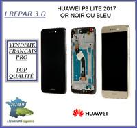 Ecran Lcd Original+Vitre tactile + Chassis Huawei P8 lite 2017 Noir Doré ou Bleu