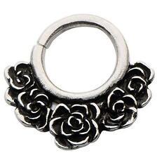 18g Brass septum nose ring clicker body jewelry piercing prong ear lip w128
