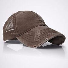 Mesh Trucker Hat Cotton Solid Washed Polo Style Baseball Cap Adjuatabback Summer
