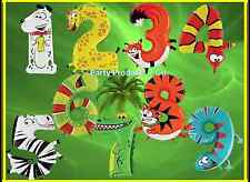 """40"""" Zooloon Animal Age Number 1 2 3 4 5 6 7 8 9 Party Foil Helium Balloons"""