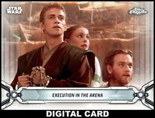 Topps Star Wars Card Trader CHROME LEGACY WHITE Wave 5 Execution in Arena 100cc