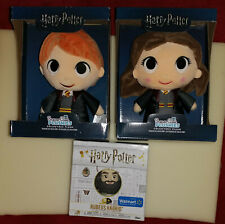 Harry Potter Dolls (3) Rubeus Hagrid w/ Dragon Egg & Baby Dragon; Hermione & Ron