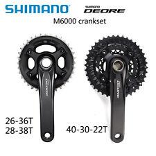 shimano DEORE M6000 crankset 20 30 Speed mtb crankset with bb52 170mm 175mm OE