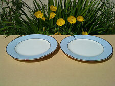 SET OF 2 ROYAL DOULTON DAILY MAIL REGENCY GOLD DINNER PLATES - BY BRUCE OLDFIELD