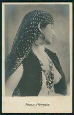 Turkey Arab Nude busty woman original old 1910s Photo postcard