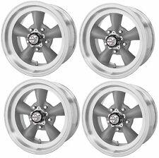 American Racing 15x7 VN215 Torq Thrust II Wheel Gray Mach 5x4.75//120.65-6