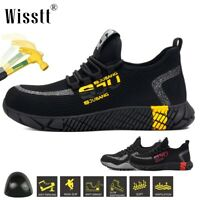 Mens Work Safety Shoes Indestructible Bulletproof Steel Toe Cap Boots Sneakers