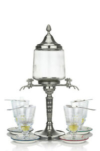 TRADITIONAL ABSINTHE FOUNTAIN, 4 SPOUT, COMPLETE SET FOR 4 OR MORE !!!