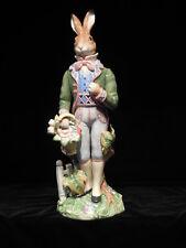 "Fitz and Floyd Old World Rabbit Male Figurine 18"" Mib"