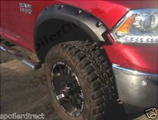 FOR 2011-2016 RAM 1500 QUAD CAB POCKET STYLE FENDER FLARES - TEXTURED FINISH