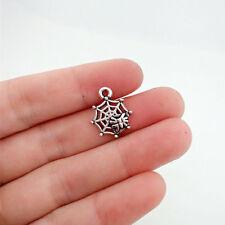 10 pcs spider web Tibet silver Charms Pendants DIY Jewellery Making crafts