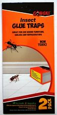 2x Insect Glue Traps Spider Ant Woodlice Pest Control Insect Bug Killer Cockroch