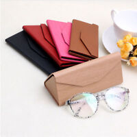 Foldable Triangular Leather Hard Case for Glasses Eyeglass Sunglasses Box Purse