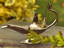 ENCHANTING NEW ALADDIN GENIE LAMP BRASS INCENSE CONES BURNER MEDITATION HIPPIE