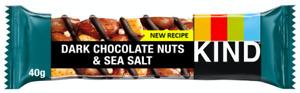 Kind Dark Chocolate Nuts & Sea Salt Bars 36 x 40g BBE 03/10/2021 Gluten Free