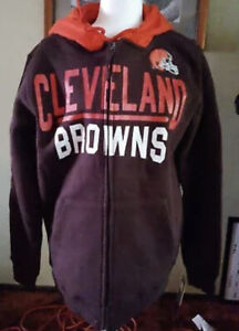 Giii Hail Mary Hoodie Zip Up Cleveland browns heavy weight small S nfl g iii